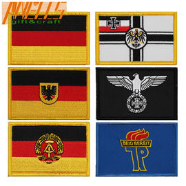 International  Embroidered Country Flag Patches Hook And Loop Backing