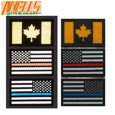 Custom Engraving Logo 3D Tactical IR Reflective Patch